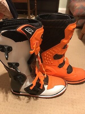 ONeal Rider Adult Mens MX Motocross Off Road Boots Orange-Black UK 12