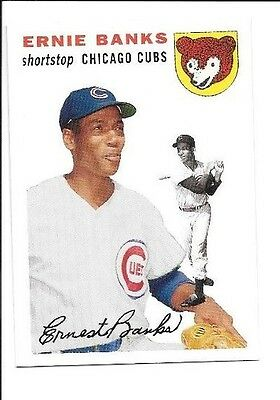 Ernie Banks 2006 Topps Rookie Of The Week 1955 Topps Chicago Cubs Free Shipping