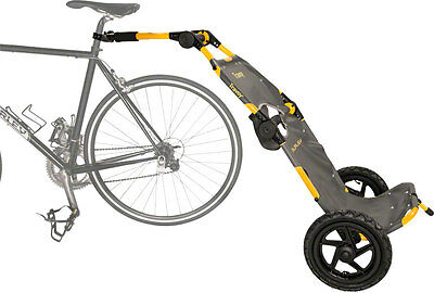 Burley Travoy Urban Trailer System: Yellow with hitch, tote bag, 2 tie downs