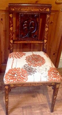 Walnut Marquetry Regency Dining Chair Single Chair . country house