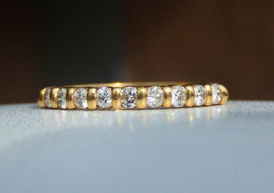 Superbe Alliance 9 Lumineux Diamants Or Jaune 18 Kt