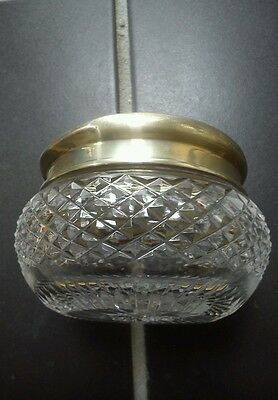 Walker And Hall Silver Lidded  Glass Pot
