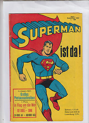 Superman Ehapa 1966 Nr. 1 Ehapa-Verlag Originalheft