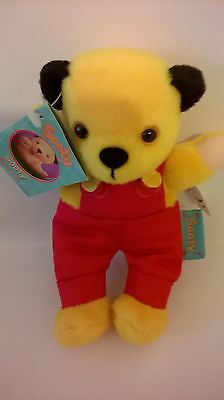 Sooty Bean Toy New Tag Label Golden Bear 2000 Red Trousers Children Television