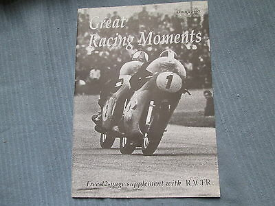 Great Racing Moments Spring 1992 12 Page Classic Racer Supplement