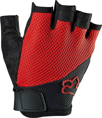 Fox Racing Reflex Gel Men's Short Finger Glove: Red MD