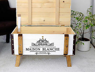 VINTAGE PINE COFFEE TABLE CHEST blanket box Nightstand TV STAND in Shabby chic