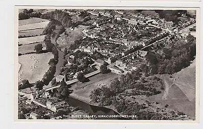Great Real Photo Card Aerial View Kirkcudbright Fleet Valley  Around 1940