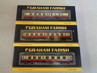 N Gauge Farish Mk1 Br Crimson & Cream...x...3.......374-255/185A/060A.......#36#