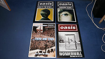 Oasis - Collection of 4 promo posters job lot - Morning Glory / Wonderwall etc.