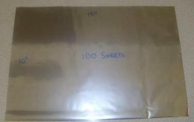 50 Large Food Grade Cellophane Sheets Gift Wrapping