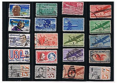 US Airmail Stamps Collection