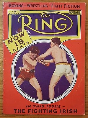 Ring Magazine, September 1932 The Fighting Irish Cover