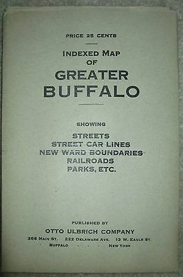"Vintage Railroad  Map Buffalo NY 1930's 22"" x 34"""