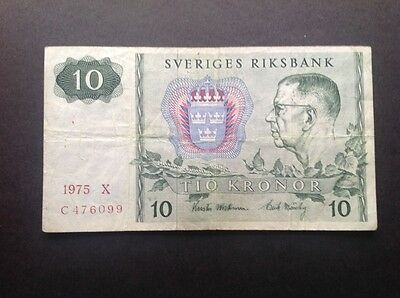 Sweden banknote for 10 Kronor.