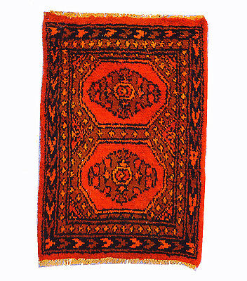 Hand Knotted Jaldar Pak Persain Overdyed Bokhara Rug 3x2 FT (210A)