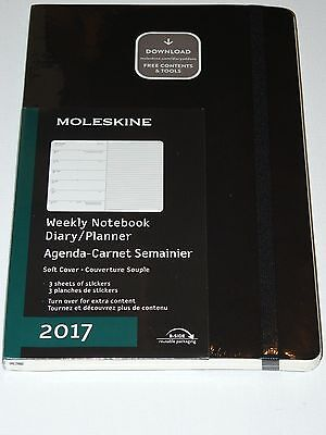 Moleskine 2017 Weekly Notebook Diary/Planner LG 21.7 x 13.3cm Soft Cover - Black