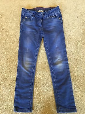 Girls Next blue distressed skinny jeans age 7 years
