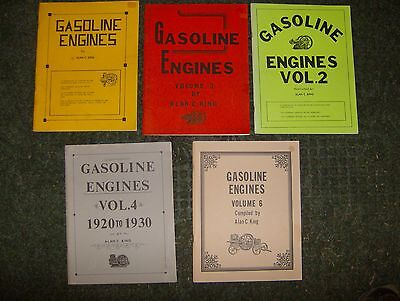 Gasoline Engines By Alan King Volumes 1,2,3,4,6 Collection Of Engine Ads.