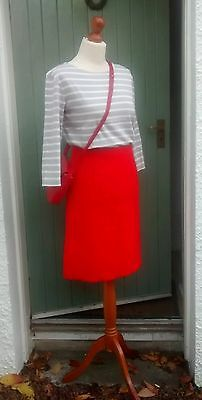 Vintage 60s Red A Line Wool Skirt by Kitty's Made in Scotland Size 10