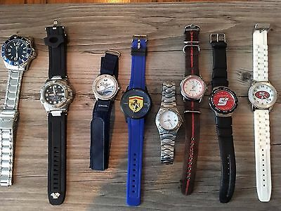 Watches Lot of 8 Ferrari 49ers  Padres Sperry Ford Mustang Holiday Bowl