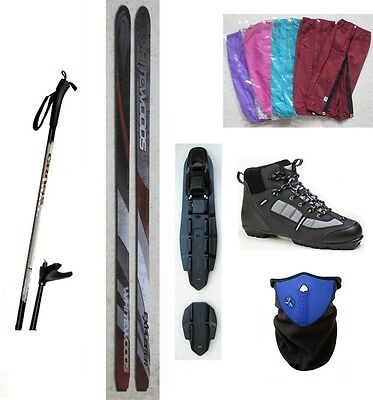 NEW EXPLORER XC cross country NNN SKIS/BINDINGS/BOOTS/POLES PACKAGE - 180cm    q