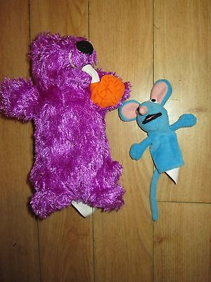 Bear Itbb House Tv Character Soft Toy Pip & Finger Puppet Tutter, Ex Con