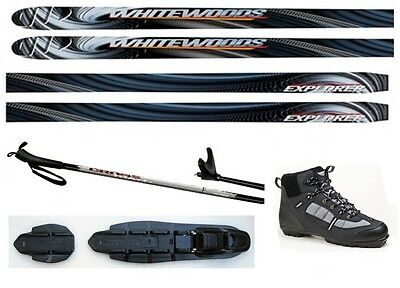 NEW EXPLORER XC cross country NNN SKIS/BINDINGS/BOOTS/POLES PACKAGE - 190cm
