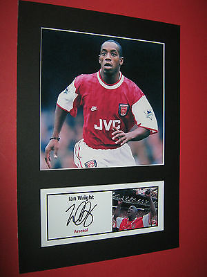 Ian Wright Arsenal Legend  A4 Photo Mount Signed (Pre-Printed)