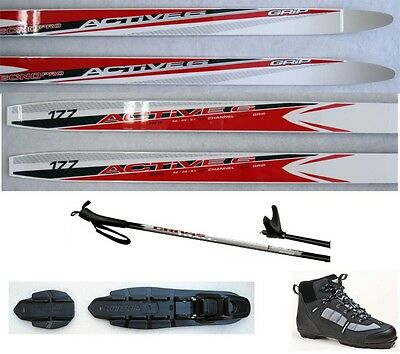 NEW TECNOPRO ACTIVE 6 cross country NNN SKIS/BINDINGS/BOOTS/POLES PACKAGE 187cm