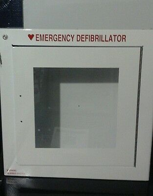 """*NEW IN BOX* """"MODERN METAL PRODUCTS""""  WALL MOUNTED EMERGENCY AED CABINET w/ALARM"""
