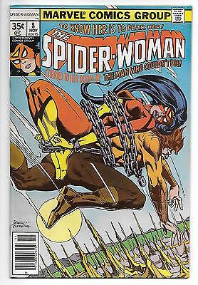 SPIDER-WOMAN #8 NM 1978 Marvel Jessica Drew chain-bondage cover!