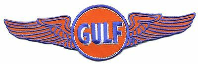 "8"" Gulf Patch with wings Gas Station Motor Oil  Hot Rod sales service Flying"