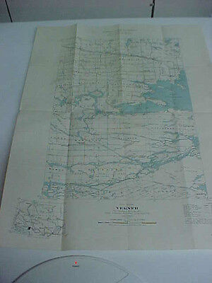 vintage map  verner nipissing sudbury parry sound  1940 deptment of mines canada