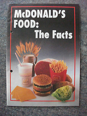 McDonald's Foods: The Facts, 1989. Exactly what was/is in it. Very interesting.