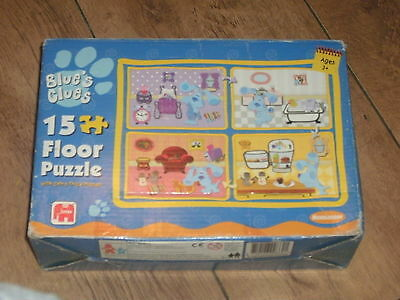 Boxed 15 Piece Blues Clues Floor Puzzle By Jumbo With Extra Thick Pieces