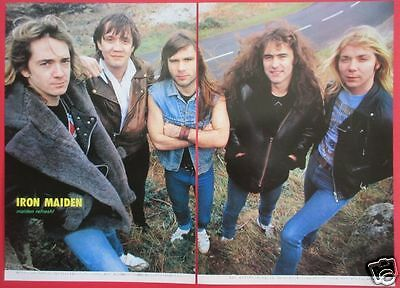 IRON MAIDEN STEVE HARRIS Nicko McBrain 1983 CLIPPING JAPAN MAGAZINE ML 7A 2PAGE