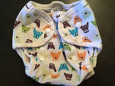 Thirsties Size 1 Diaper Cover ~ 0-9m ~ 6-18lbs ~ Owl Print