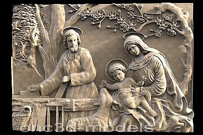 3D Model STL for CNC Router Engraver Carving Artcam Aspire Jesus Christ 015