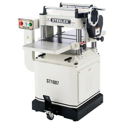 Steelex ST1007 15-Inch 3 HP 1-Phase Planer with Mobile Base and Cast Iron Wings