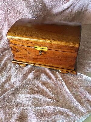 Old Antique Solid Timber Jewellery Box