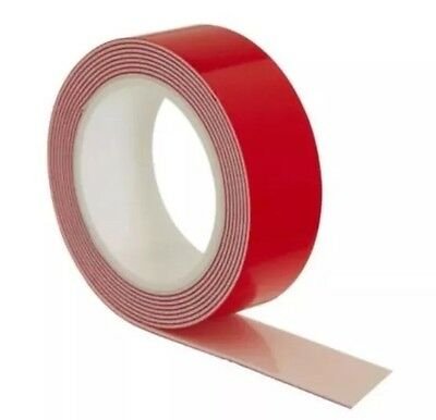 Saves Nails No More Nails Double Sided Tape Permanent Tape 19mm x 1.5m Red Roll