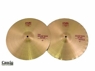 """Paiste 2002 Sound Edge 15"""" Hi-Hat Cymbals - Excellent Used Condition"""