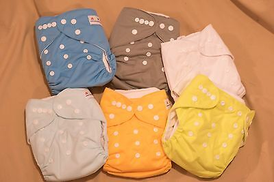 Lot of 6 ALVA BABY Pocket Diaper Covers w/Inserts--New, Never Used