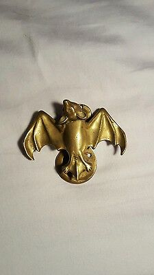 Antique Vintage Brass Bat Door Knocker