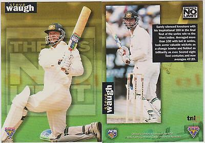 1995 Futera Cricket - Steve Waugh - Theres No Limit Card Number 1