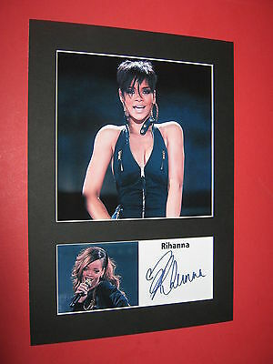 Rihanna A4 Photo Mount Signed Pre-Printed Ticket Cd Unapologetic Loud Rated R