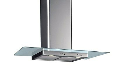 Blanco 90cm Stainless Steel Canopy Rangehood with Glass Surround (BWCG90X)