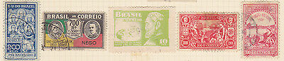BRAZIL - 5 Stamps as shown - Hinged