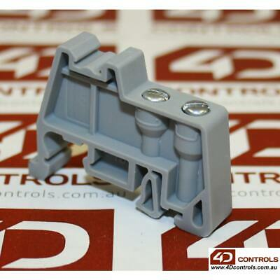 Connectwell CA702 DIN RAIL MOUNTED SCREW END CLAMP, GREY - New No Box